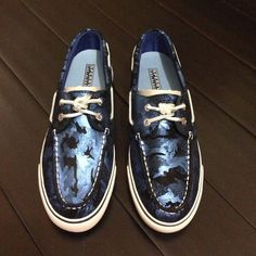 Nwt  Sperry Topsiders no trades Metallic Camo print no flaws Sperry Top-Sider Shoes