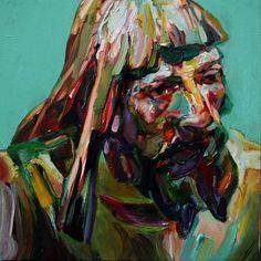 """Aaron Smith - Mumper,  2009, oil on panel, 12"""" x 12"""""""