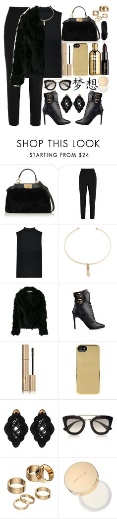 """♠️"" by fashioneex ❤ liked on Polyvore featuring Fendi, Dolce&Gabbana, Theory, Vanessa Mooney, McQ by Alexander McQueen, Balmain, Stila, Incase, Gorgeous Cosmetics and Anna e Alex"