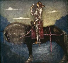 Image collections of Swedish artist John Bauer. Art and illustrations from Our Fathers' Godsaga, Swedish Fairy and Folk Tales, Lapp Folk, Swansuit, more. And of course trolls! John Bauer, Children's Book Illustration, Illustrations, Jeanne D'arc, Joan Of Arc, St Joan, Equine Art, Klimt, Horse Art