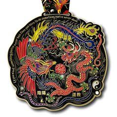 Yin Yang Running Virtual Run Medal
