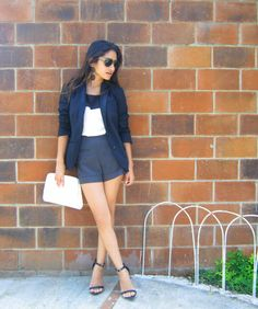 Your Outfit Today » Chic outfit with blazer and shorts, August 6 2013