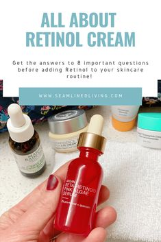 I'm always looking for ways to improve my skincare routine. One of the products that I've always been interested in learning more about is Retinol cream/serums. Learn about the Top 8 Things I Learned About Retinol Cream when I was researching it!      #skincare #skincare101 #beauty #beauty101 #skincareroutine