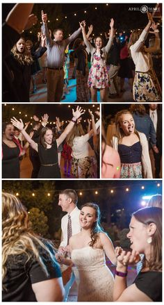 Outdoor wedding dance floor photos in front of the red barn at Denver Botanic Gardens Chatfield Farms in Colorado. - April O'Hare Photography http://www.apriloharephotography.com