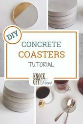 Minimalist decor is becoming so popular for Try out these easy Concrete Coasters to give your home decor a modern design twist. It is a simple DIY project for your home decor! Source by Knockoffdecor Decor minimalist Concrete Crafts, Concrete Projects, Diy Projects, Concrete Art, Diy Home Crafts, Easy Diy Crafts, Decor Crafts, Simple Crafts, Diy Coasters