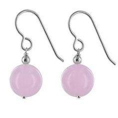 Rose Jade Gemstones - 925 Sterling Silver - Handmade Drop Earrings