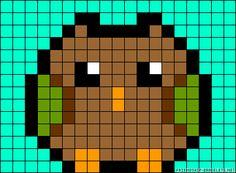37145.gif 380×280 pixels Fuse Bead Patterns, Perler Patterns, Beading Patterns, Owl Perler, Perler Bead Art, Twister Quilts, Peler Beads, Beaded Cross Stitch, Alpha Patterns