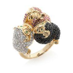 "Rarities: Fine Jewelry with Carol Brodie 3.75ct Multigemstone Vermeil ""See, Hea at HSN.com"