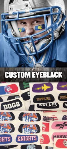 We've got you covered with Custom EyeBlack! You dream it, we design it - almost any logo, design, text, or idea is possible with our art department! Starting at $1.50 a pair (minimum 50 pairs)