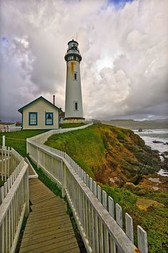 Pigeon Point Lighthouse, California. Love lighthouses!