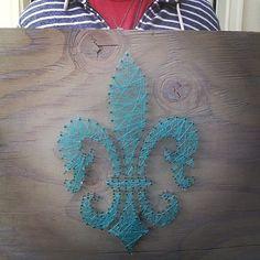 String Fleur de Lis by TautlyTangled on Etsy, $65.00