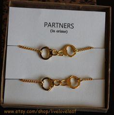 Partners in crime matching Best Friends Bracelets  by LiveLoveLeaf, $25.00