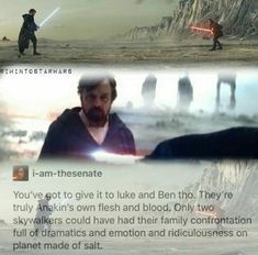 I mean.... Skywalker men.  (I never even thought about how symbolic the salt really is, too, omg )