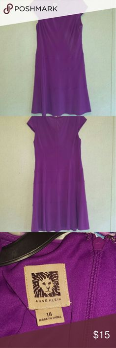 Midi Dress, Anne Klein. Beautiful fit, capped sleeve, Fuscia, Anne Klein, 14, So SOFT & WILL STRETCH to match your curves. *FIRM pricing* Anne Klein Dresses Midi