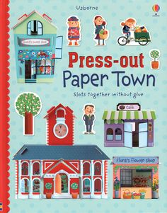 Press-Out Paper Town  Check it out at www.coastalbooknook.com