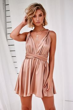The Perfect Date Satin Mini Dress (Mocha) Date Dresses, Sexy Dresses, Casual Dresses, Short Dresses, Prom Dresses, Summer Dresses, Bridesmaid Dresses, Satin Mini Dress, Ruffle Dress