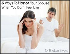 What do we do when don't feel like honoring our spouse?? Great post with great insight!