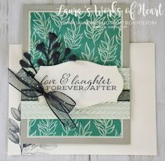 Laura's Works of Heart Mystery Host, Leaf Images, Embossed Cards, Some Cards, Accent Pieces, Wedding Cards, Greenery, It Works, Heart