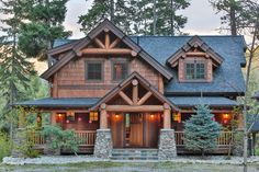 Natural Element Homes Big Chief Mountain Lodge Plan