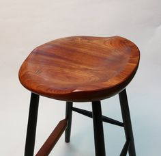 Close view of a sculpted cherry stool seat by GARNY Designs. More images at Etsy: https://www.etsy.com/listing/162300110/garny-small-oval-cherry-stool-25-for