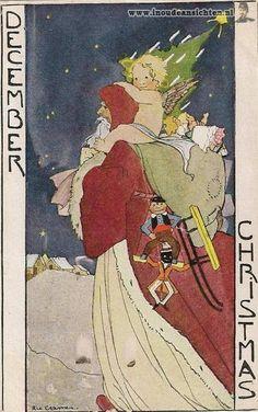 Rie Cramer -Nederland Vintage postkaart-December,                                          lb xxx.
