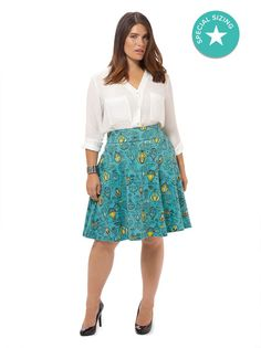 Carnaby Skirt In Up & Away Print