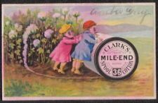 ANTIQUE VICTORIAN KIDS EYE GLASSES CLARK'S THREAD TRADE CARD