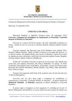 comunicat-de-presa-caravana-campaniei-controlul-integrat-al-poluarii-cu-nutrienti by Campania  INPCP via Slideshare Camper Van