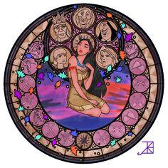 Pocahontas Stained Glass - disney-princess Fan Art