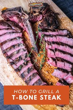Looking for a delicious steak recipe? Check out how to grill a t-bone steak and discover the best steak recipes and grilling tips for a yummy grilled steak now #grilledsteak #grillingtips #grillingrecipes #steakrecipes #steakdinner Good Steak Recipes, Grill Recipes, Barbecue Recipes, Beef Recipes, Bbq, Dinner Recipes, Best Grilled Steak, Best Steak, Summer Grilling Recipes
