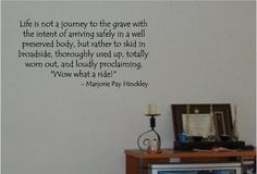 Wow What A Ride - Marjorie Pay Hinckley - Vinyl Wall Decal Sticker Art