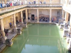 Um passeio por Roman Bath na Inglaterra