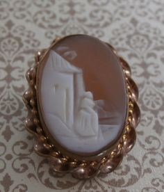 Antique Victorian Art Deco Shell Cameo Pin ~ #Vintage #Jewelry #Fashion #Style #Design #Etsy #Beauty #VintageJewelry by StarliteVintageGems, $28.00