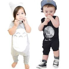 2016 Hot Sale Newborn Baby Girl Jumpsuit Brand Letter Totoro Printing Baby Rompers Fashion Boy Baby Infant Clothes Romper bebe