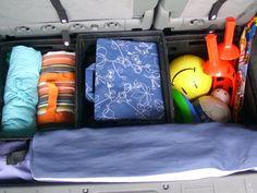 organized car trunk
