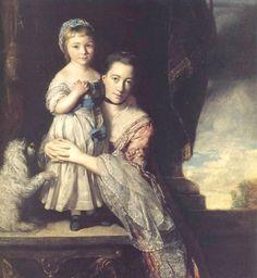 1759 Georgiana, Countess Spencer, nee Poyntz, and her daughter by Sir Joshua Reynolds