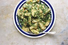Grainy Mustard Potato + Massaged Kale Salad | With Food + Love remove garlic and use garlic olive oil for fodmap