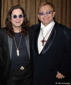 Ozzy Osbourne (The Black Sabbath) and Elton John ! Ozzy Osbourne, Sharon Osbourne, Music Love, Rock Music, Goodbye Yellow Brick Road, Ray Charles, Black Sabbath, Music Icon, Rolling Stones