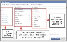 Facebook Ad Reports setup