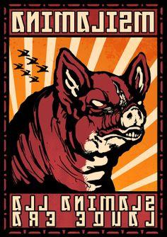 Caryl Churchill, Animal Farm George Orwell, Far Away, Farm Animals, Comic Books, Comics, Cover, Art, Pigs