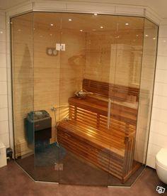 bastuvägg i glas - Lilly is Love Mid Century Modern Bathroom, Modern Bathroom Design, Saunas, Jacuzzi, Mid-century Modern, Sweet Home, Relax, House Design, Sauna Ideas