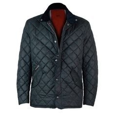Mens Barbour Moran Quilted #Jacket in Navy #Blue - front - £149