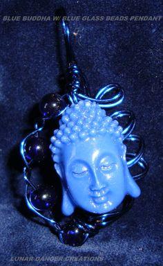 Blue Buddha w/ Blue beads--Soft Communications--$15.00 + S&H