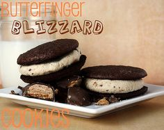 Butterfinger Blizzard Cookies - Confessions of a Cookbook Queen