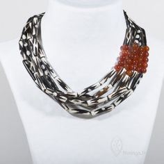 by Mininga Designs | www.miningadesigns.com | African Queen Tsitsi - bone - carnelian - safari - brown - africa