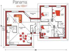 Modèle de maison à 0 euros Basement House Plans, Sims House, Sweet Home, Floor Plans, Construction, House Design, Flooring, How To Plan, Building