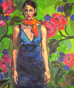 Women with Tangerine Scarf