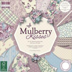 Trimcraft Dovecraft Mulberry Kisses Paper Pad 8 X 8