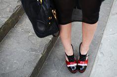 #fashion #shoes scarpe stringate con tacco