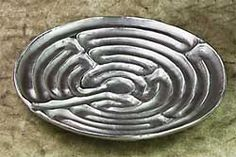Surrender to the relaxation of a labyrinth, right in the palm of your hand ~ Chartres Labyrinth Dish, IsabellaCatalog.com